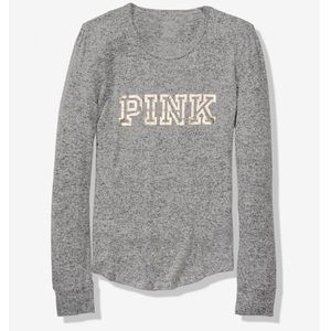VS Pink Cozy Sleep Pajama Tee